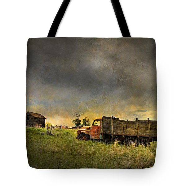 Abandoned Farm Truck Tote Bag