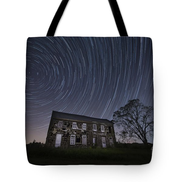 Abandoned History Star Trails Tote Bag by Michael Ver Sprill