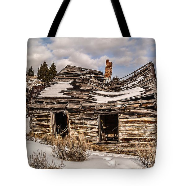 Abandoned Home Or Business Tote Bag by Sue Smith