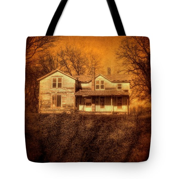 Abandoned House Sunset Tote Bag by Jill Battaglia