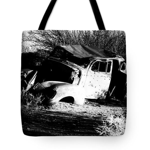 Tote Bag featuring the photograph Abandoned by Jessica Shelton