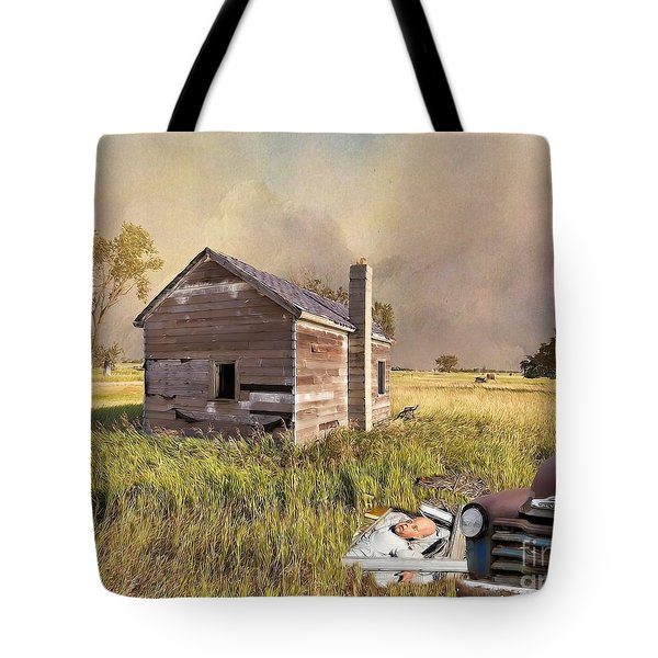 Abandoned Tote Bag by Liane Wright