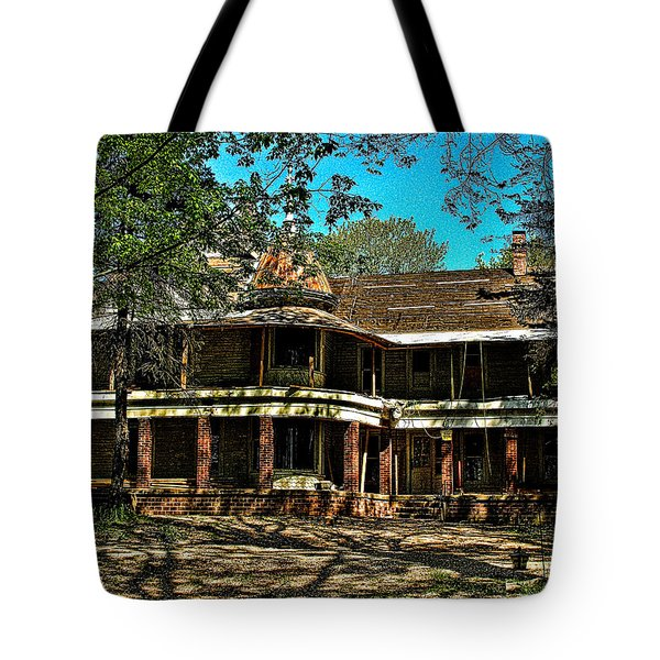 Abandoned Mansion Tote Bag by Kristie  Bonnewell