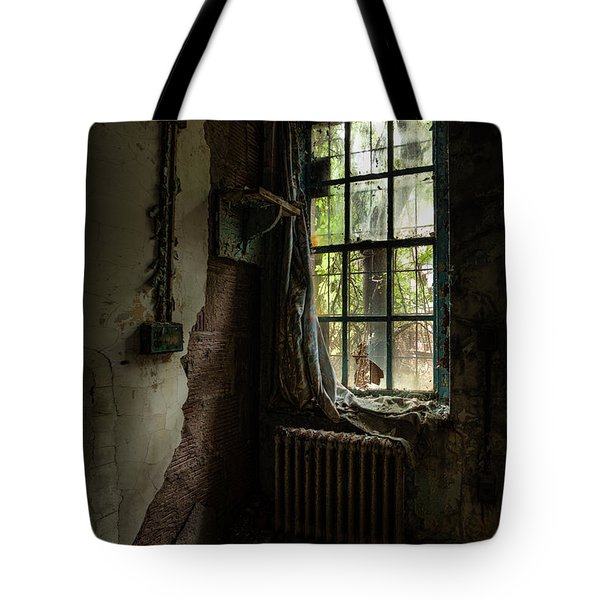 Abandoned - Old Room - Draped Tote Bag by Gary Heller