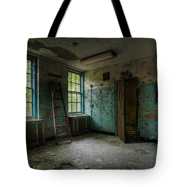 Abandoned Places - Asylum - Old Windows - Waiting Room Tote Bag by Gary Heller