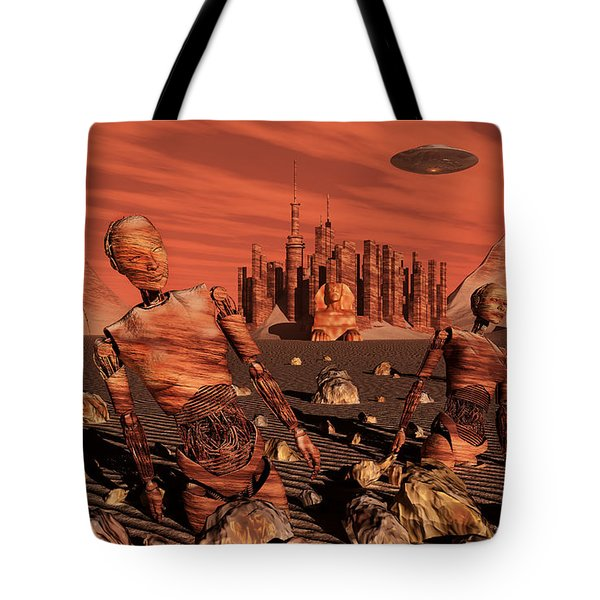 Abandoned Relics From An Advanced Tote Bag by Stocktrek Images