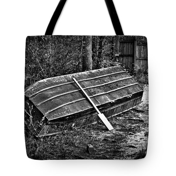 Abandoned Rowboat Tote Bag by Tara Potts