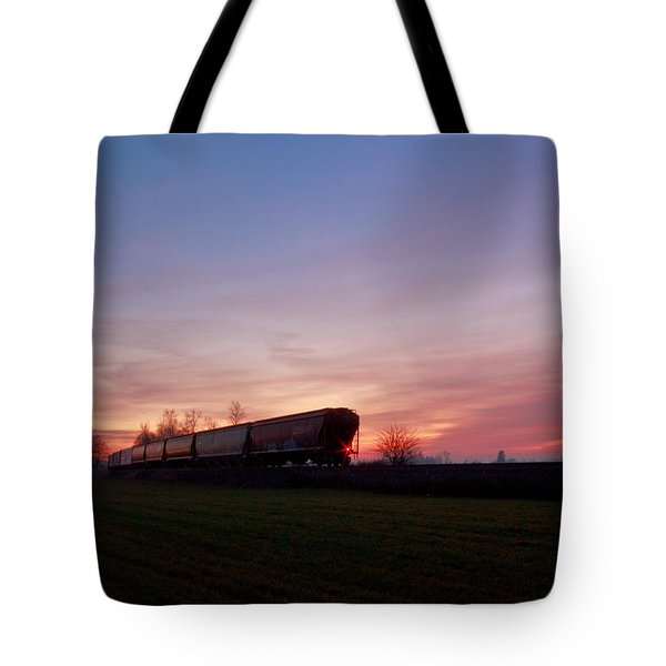 Tote Bag featuring the photograph Abandoned Train  by Eti Reid