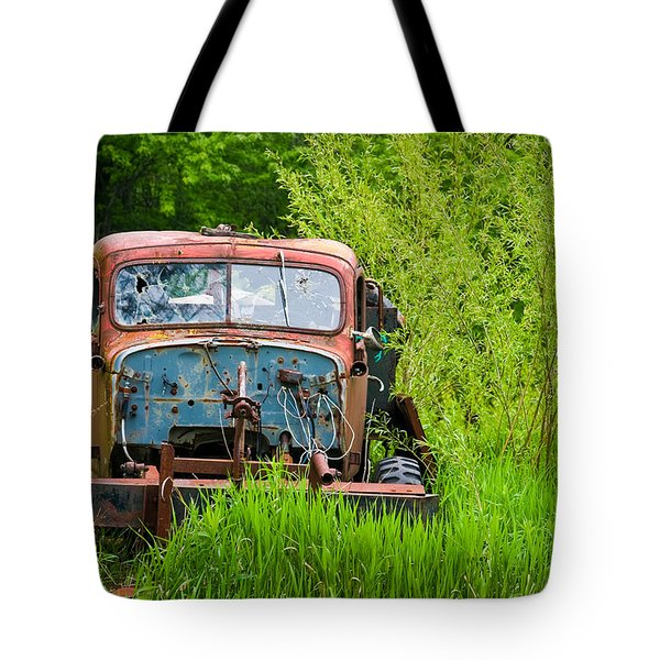 Abandoned Truck In Rural Michigan Tote Bag