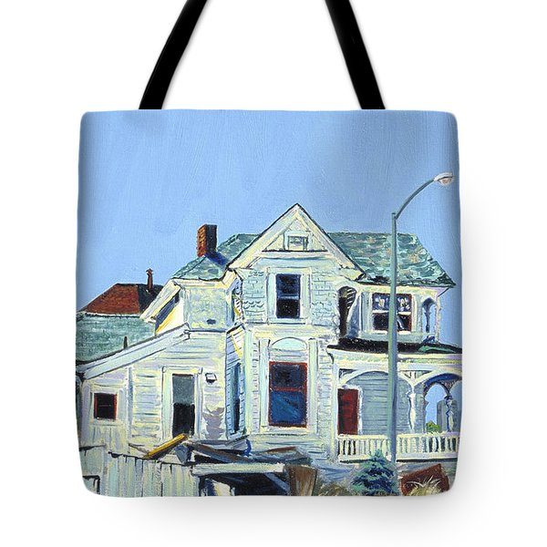 Abandoned Victorian In Oakland  Tote Bag by Asha Carolyn Young