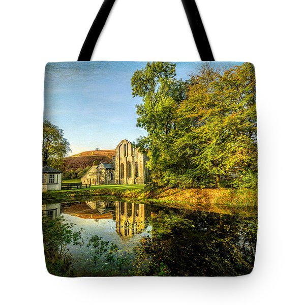 Abbey Lake Autumn Tote Bag by Adrian Evans