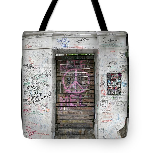 Abbey Road Graffiti Tote Bag