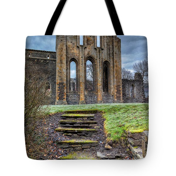 Abbey Steps Tote Bag by Adrian Evans