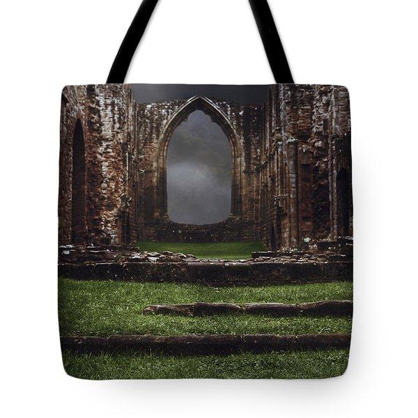 Abbey Steps Tote Bag by Amanda Elwell