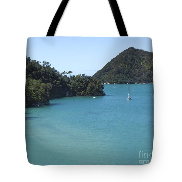 Abel Tasman Bay With Sail Boat Tote Bag