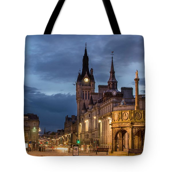 Aberdeen At Night Tote Bag