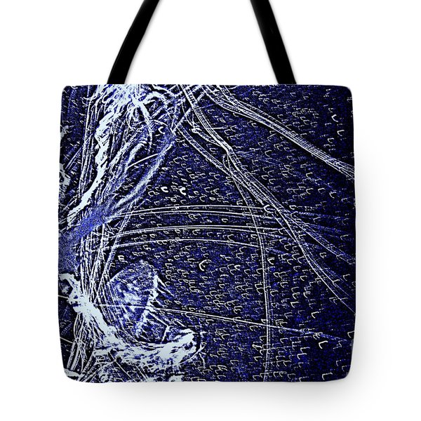 Tote Bag featuring the photograph Aberration Of Jelly Fish In Rhapsody Series 3 by Antonia Citrino