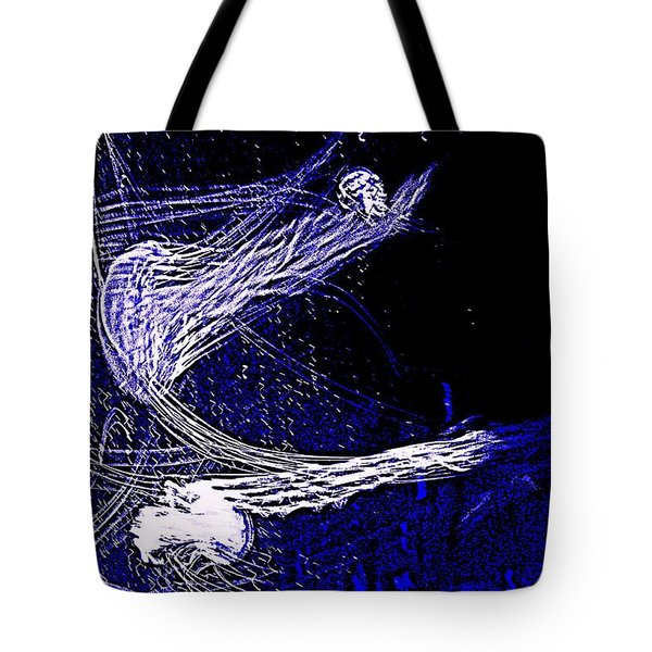 Tote Bag featuring the photograph Aberration Of Jelly Fish In Rhapsody Series 4 by Antonia Citrino