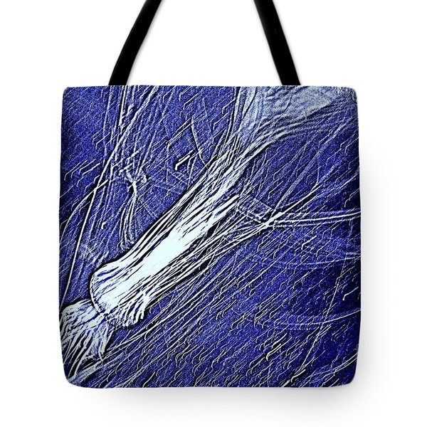 Tote Bag featuring the photograph Aberration Of Jelly Fish In Rhapsody Series 5 by Antonia Citrino