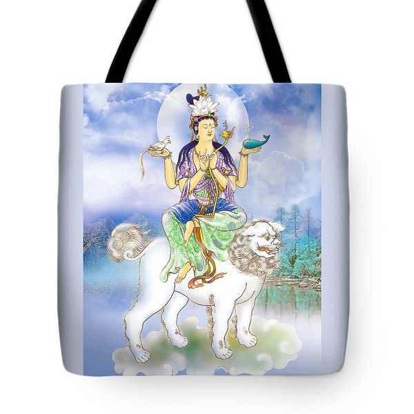 Tote Bag featuring the photograph Abhetri Kuan Yin  by Lanjee Chee