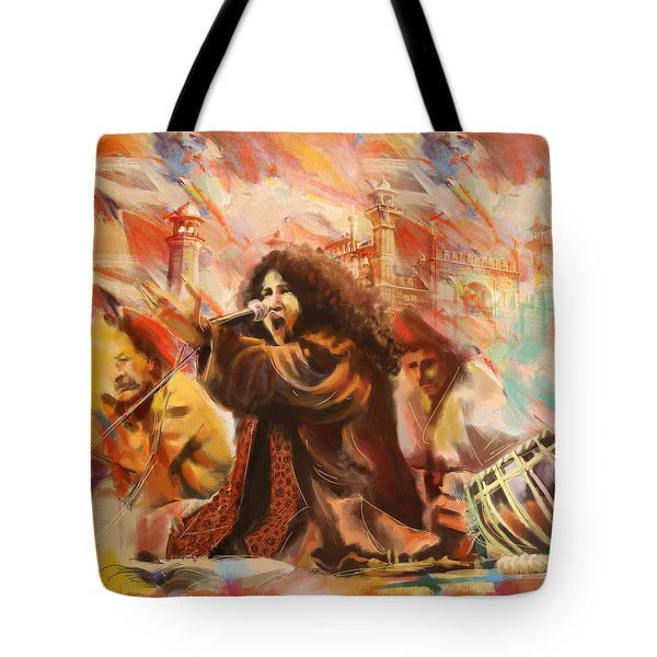 Abida Parveen Tote Bag by Catf