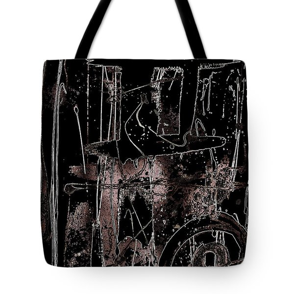 Tote Bag featuring the painting Abidjan by Cleaster Cotton