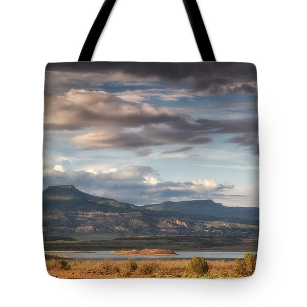 Abiquiu New Mexico Pico Pedernal In The Morning Tote Bag