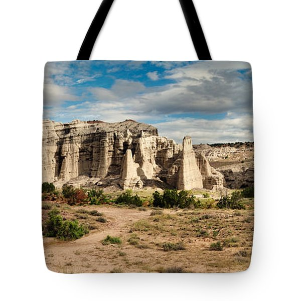 Abiquiu New Mexico Plaza Blanca In Technicolor Tote Bag