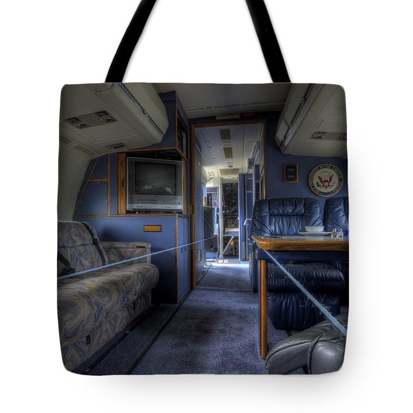 Aboard Air Force Two Tote Bag