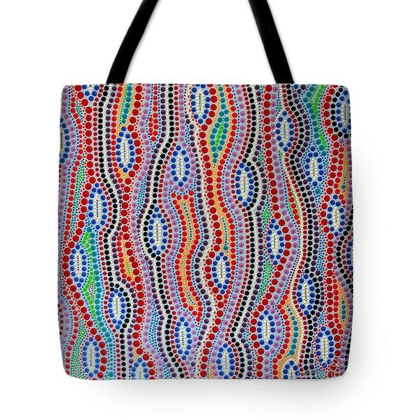 Tote Bag featuring the painting Aboriginal Inspirations 2 by Mariusz Czajkowski