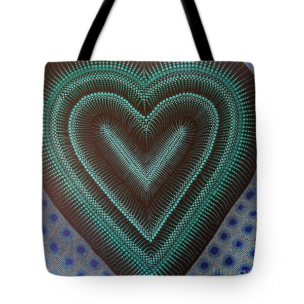 Tote Bag featuring the painting Aboriginal Inspirations 5 by Mariusz Czajkowski