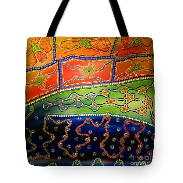 Original Sold Aboriginal Inspirations 7 Tote Bag