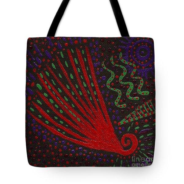 Aboriginal Vibes Tote Bag by Vicki Maheu