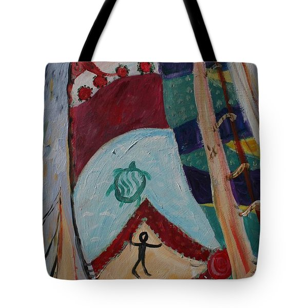 Aborigines Sail Tote Bag by Avonelle Kelsey