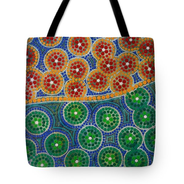 Tote Bag featuring the painting Aboryginal Inspirations 3 by Mariusz Czajkowski
