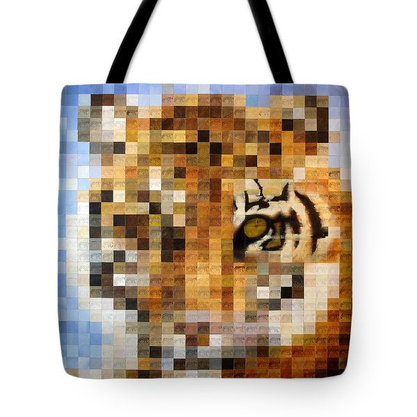 About 400 Sumatran Tigers Tote Bag by Charlie Baird