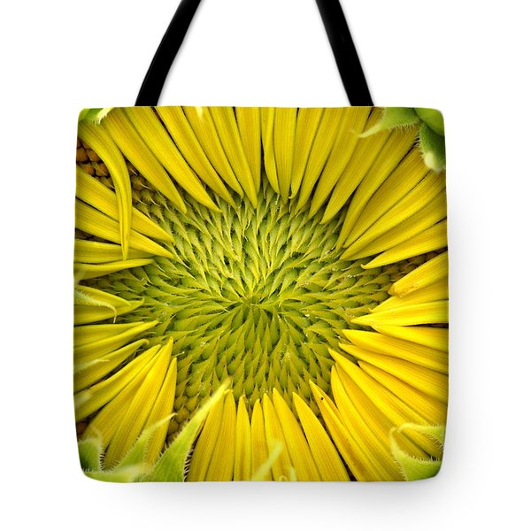 Tote Bag featuring the photograph About To Be A Sunflower by Kenny Glotfelty