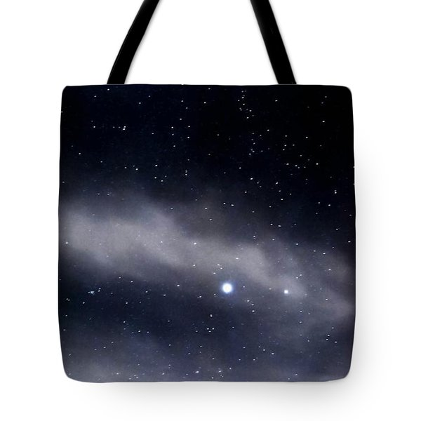 Tote Bag featuring the photograph Above by Angela J Wright