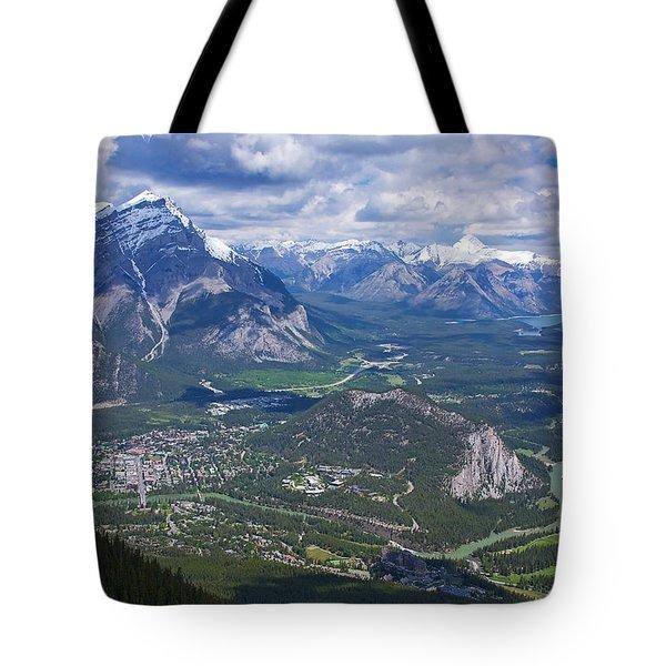 Above Banff Tote Bag
