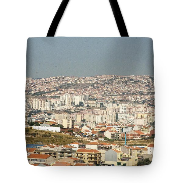 Above Lisbon Portugal Tote Bag by Darleen Stry