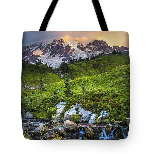 Above Myrtle Falls 3 Tote Bag