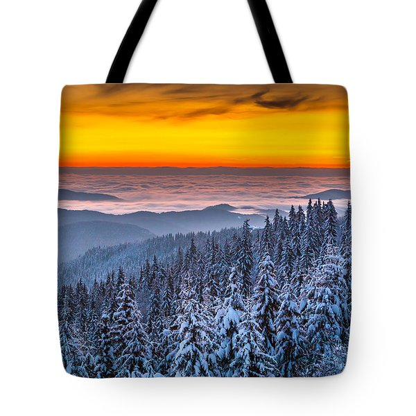 Above Ocean Of Clouds Tote Bag by Evgeni Dinev