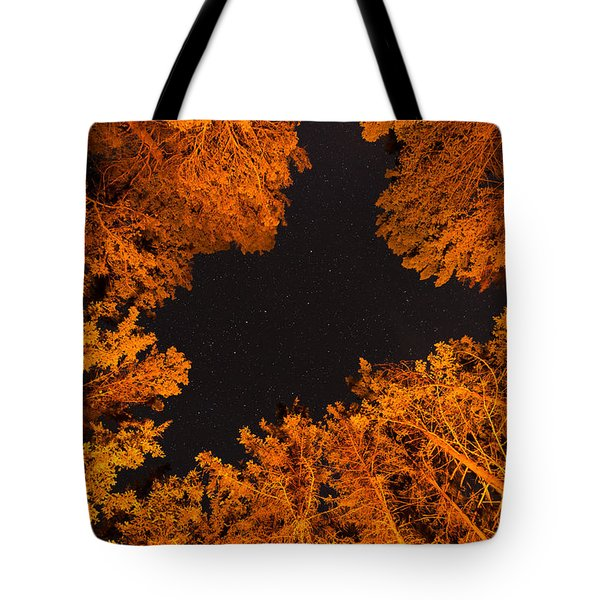 Above The Campfire Tote Bag