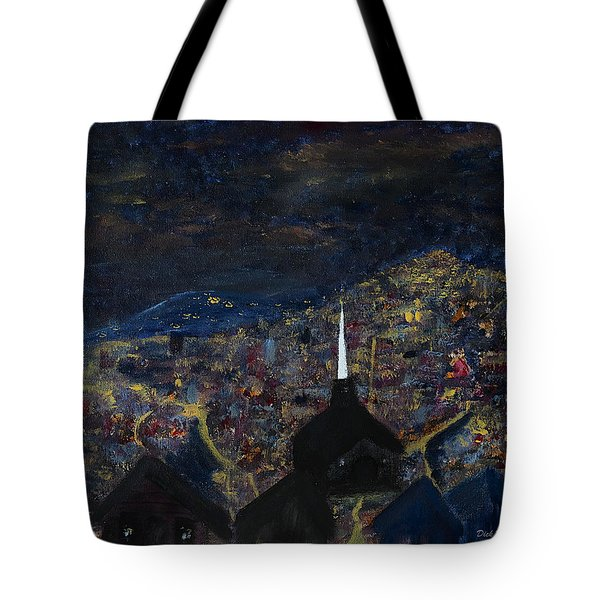 Above The City At Night Tote Bag