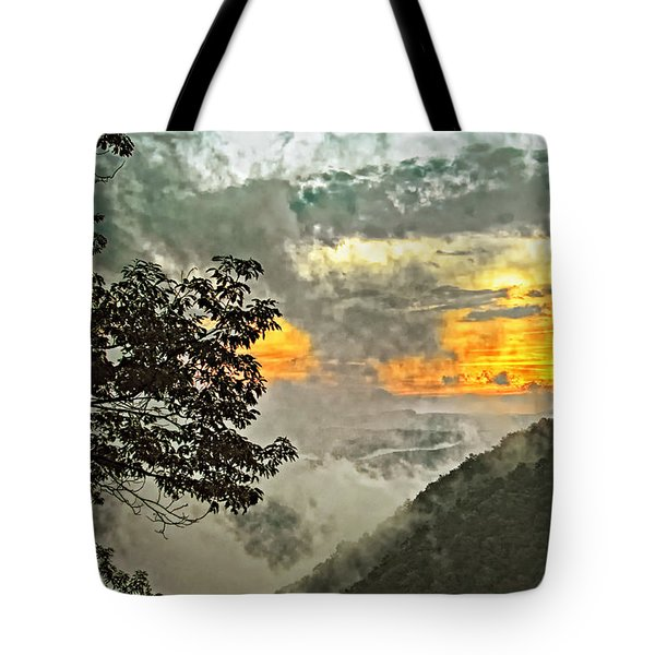 Above The Clouds 3 Tote Bag by Steve Harrington