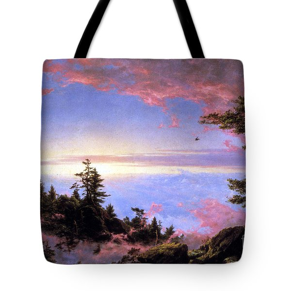 Above The Clouds At Sunrise By Frederick Edwin Church Tote Bag