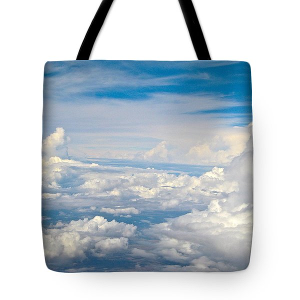 Above The Clouds Over Texas Image B Tote Bag