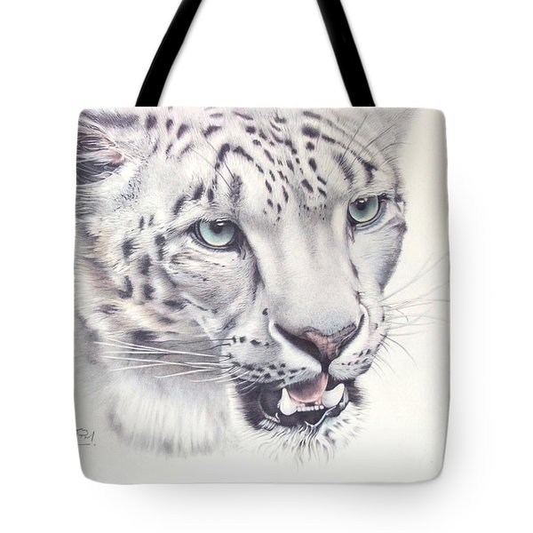 Above The Clouds - Snow Leopard Tote Bag