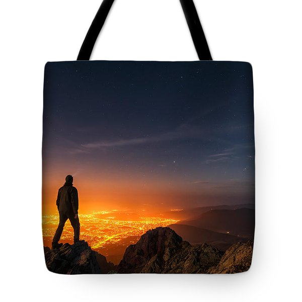 Above The Night Tote Bag by Evgeni Dinev