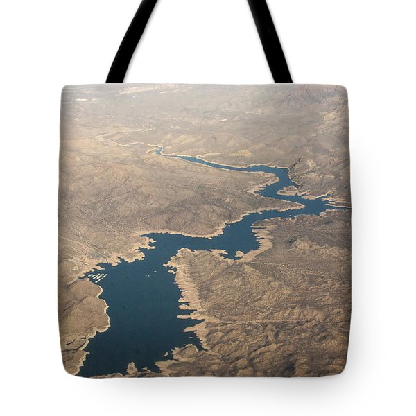 Above The Rocky River Tote Bag by Darleen Stry